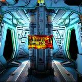Ruimtestation vector illustratie