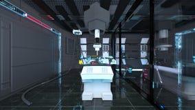Ruimtestationlaboratorium vector illustratie
