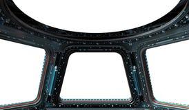 Ruimtestationvenster het 3D teruggeven Stock Foto's