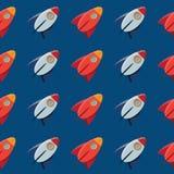 Ruimtestuk speelgoed raket. Vectorpatroon. Royalty-vrije Stock Foto