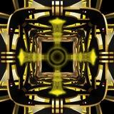 Ruimtethema abstracte achtergrond Creatief ontwerp 3D Illustratie Stock Afbeelding