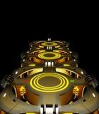 Ruimtethema abstracte achtergrond Creatief ontwerp 3D Illustratie Royalty-vrije Stock Foto's