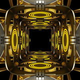Ruimtethema abstracte achtergrond Creatief ontwerp 3D Illustratie Royalty-vrije Stock Foto