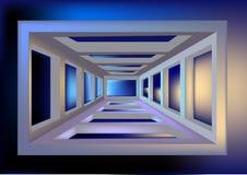 Ruimtetunnel Stock Foto