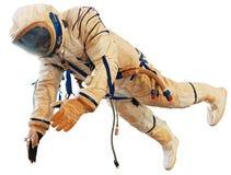 Ruimtevaarder in spacesuite Stock Afbeelding