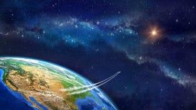 Ruimtevaart stock illustratie