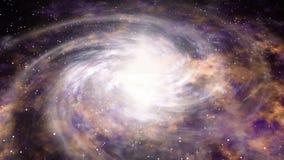Ruimtevaart dichtbij grote melkweg Partij van sterren bij kosmos CG-motie van heelal Naadloze lijnachtergrond vector illustratie