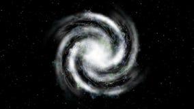 Ruimtevaart - melkwegbenadering van hoogste mening vector illustratie