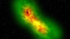 Ruimtevaart, nevel het naderbij komen - het vliegen en close-upexploratie vector illustratie