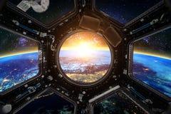 ruimtevaartuig Elementen van dit die beeld door NASA wordt geleverd stock fotografie