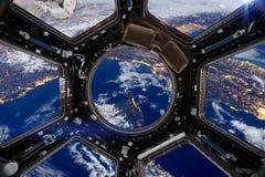 ruimtevaartuig Elementen van dit die beeld door NASA wordt geleverd stock afbeelding