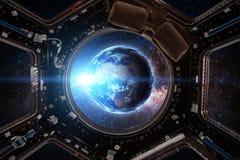 ruimtevaartuig Elementen van dit die beeld door NASA wordt geleverd royalty-vrije illustratie