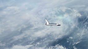 Ruimteveer boven de Aarde stock illustratie