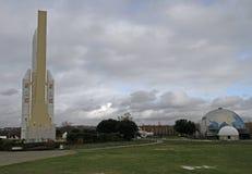 Ruimteveer in het themapark van Toulouse over de ruimtevaartindustrie royalty-vrije stock fotografie