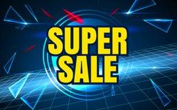 Ruimteverkoop als achtergrond Super Verkoop en speciale aanbieding Vector illustratie Royalty-vrije Stock Foto's