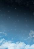 Ruimtewolkenachtergrond royalty-vrije illustratie