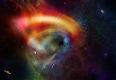 Ruimtewormhole stock illustratie