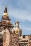 Ruiné de la statue de Bouddha Photos stock