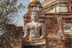 Ruiné de la statue de Bouddha Photographie stock