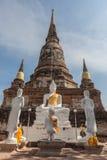 Ruiné de la statue et de la pagoda de Bouddha Photos stock