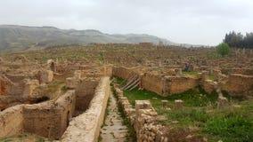 Ruin& x27; деревня s Djemila, Алжира стоковые фотографии rf