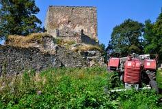 Ruin. Vitkuv Hradek in The Czech republic stock images