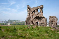 Ruin. Inholy rood park in edinburgh Royalty Free Stock Photo