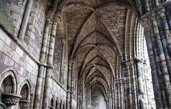 Gothic Ruin - Holyrood Abbey. Ruin of Abbey in Holyrood Palace in Edinburgh, Scotland Stock Photo