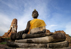 Ruin of acient buddha temple in Thailand Stock Photos