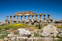 Ruin of the Acropolis. Selinunte, Sicily, Italy Stock Photo