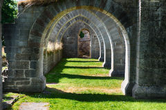 Ancient Ruin. Alvastra monestry in Sweden. Founded 1143 royalty free stock image