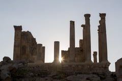Ruin of the ancient Artemis temple in Jerash, north Jordan Royalty Free Stock Images