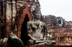Ruin of ancient buddha temple in Thailand Royalty Free Stock Photos