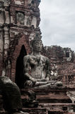 Ruin of ancient buddha temple in Thailand Royalty Free Stock Images