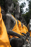 Ruin of ancient buddha temple in Thailand Stock Image