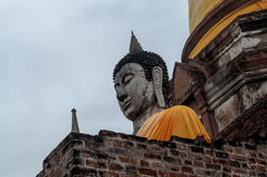 Ruin of ancient buddha temple in Thailand Stock Photos