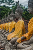 Ruin of ancient buddha temple in Thailand Stock Photo