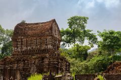 Ruin of ancient Hindu temple in My son Royalty Free Stock Photos