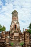 Ruin of ancient temple. (Wat Phraram) in Ayutthya Thailand Stock Photo