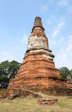 Ruin ancient temple. In Ayutthaya, Thailand Royalty Free Stock Photography