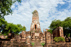 Ruin of ancient temple (Wat Phraram) Stock Images