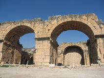 Ruin of ancient town in Pamukale, Turkey Stock Photography