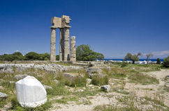 Ruin of antique building in Greece Stock Photo