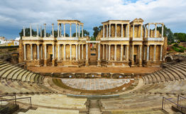 Ruin of Antique Roman Theatre Royalty Free Stock Photos