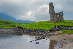 The ruin of Ardveck castle Royalty Free Stock Photos