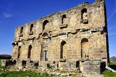 Ruin in Aspendos Royalty Free Stock Photo