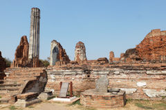 Ruin in Ayutthaya Royalty Free Stock Photography