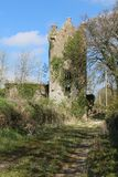Ruin of Ballyclogh castle tower Royalty Free Stock Image