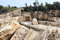 Ruin of Beit Shean. Ruin of Roman town Beit Shean in Israel Royalty Free Stock Images