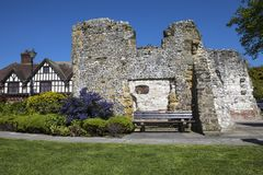 Ruin of Blackfriars in Arundel. The ruin of Blackfriars in the market town of Arundel, West Sussex, UK.  It was the first religious building in Arundel - built Royalty Free Stock Photo